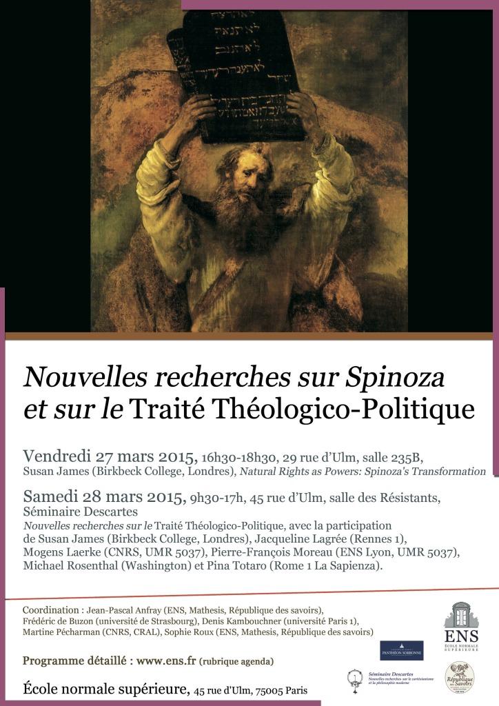 Mars 2015 Traité Théologico politique