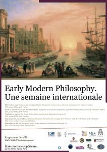 Mai 2015 Affiche Early modern Philosophy