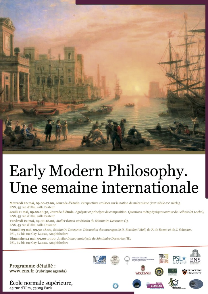 Mai 2015 Affiche Early modern Philosophy