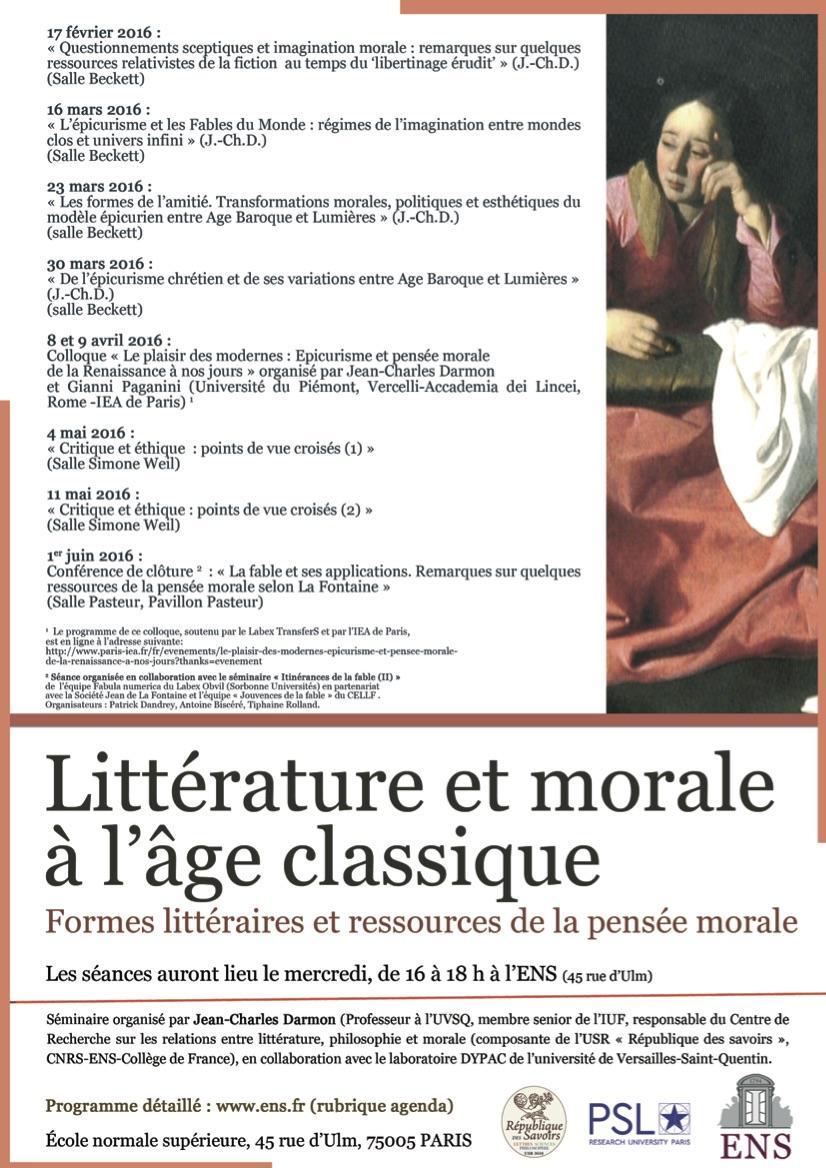 programme litterature et morale