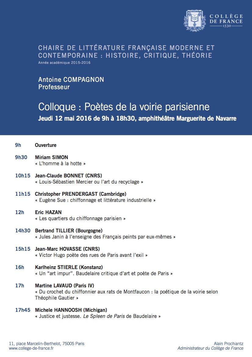 Antoine Compagnon - Colloque 2016[2]